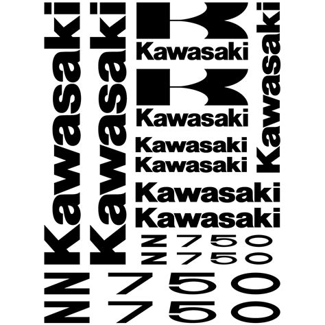 Kawasaki Zx10r Aufkleber Set by Wandtattoos Folies Kawasaki Z 750 Aufkleber Set