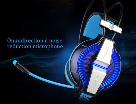 Kotion Each G7000 Pro Gaming Headset 7 1 Anti Noise With Led Light kotion each g7000 7 1 surround sound usb gaming headset with mic led light blue buy