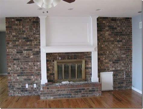 updating brick fireplace wall