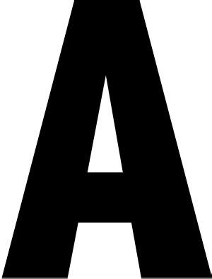 2 bold white reflective address letter a