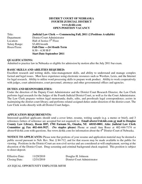 Resume Draft Sle by Municipal Court Clerk Resume Ebook Database