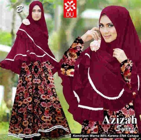 Ftn Muslim Anak Wanita Jersey Maroon Syari Anak Naura Maroon Sw gamis syari azizah a046 jersey baju muslim jilbab penguin
