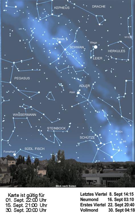sternzeichen wagen sternenhimmel september 2012 volkssternwarte marburg e v