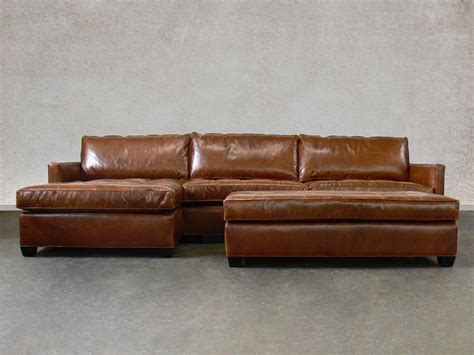 Sectional Leather Sofa With Chaise Arizona Leather Sectional Sofa With Chaise Top Grain Aniline Leather