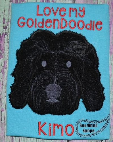 doodle rudy rudy the goldendoodle applique beau mitchell boutique