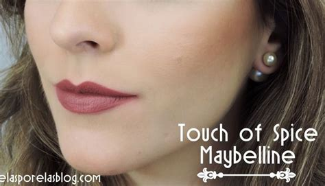 Maybelline Touch Of Spice batom touch of spice maybelline matte pantone color2015