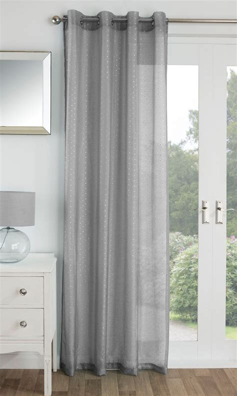 metallic curtain panels chicago eyelet voile curtains sparkle metallic ring top