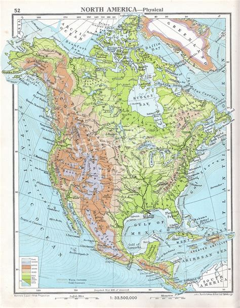 usa and canada physical map physical map of canada united states and greenland