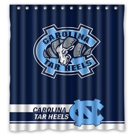 unc shower curtain north carolina tar heels curtain tar heels curtain tar