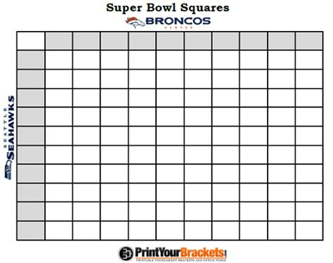 bowl grid template printable bowl squares 100 grid office pool nfl