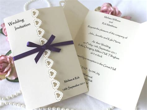 Invitation Handmade - details about beautiful handmade wedding