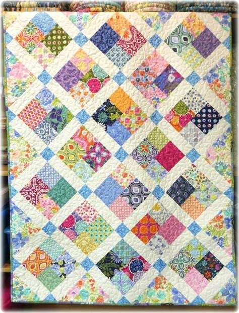 Scrappy Patchwork Quilts - baby quilt modern scrappy patchwork and lattice with kate