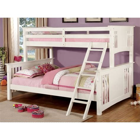 furniture  america roderick twin  queen bunk bed