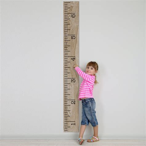 picture height vinyl growth chart single transfer for easy application