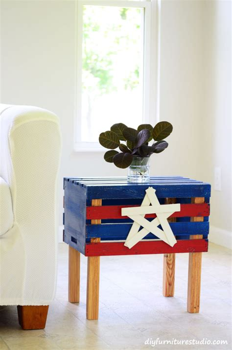easy diy furniture easy diy patriotic crate side table diy furniture studio