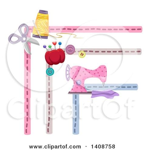 sewing borders design elements vector royalty free rf clipart of corner borders illustrations