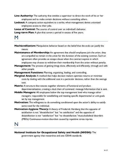 Organizational Behavior 7ed glossary supervision today 7ed