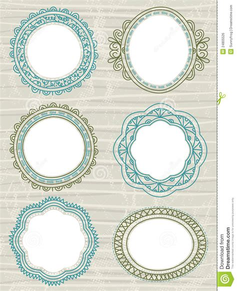 Decorative Circle Labels Vector Stock Vector Illustration Of Grunge Doodle 24805526 Circle Sticker Labels Template