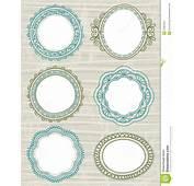 Decorative Circle Labelsvector Royalty Free Stock Image