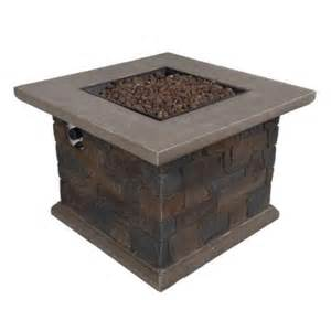 Bond Firepits Bond Manufacturing Corinthian 34 In Square Envirostone Propane Pit 66596 The Home Depot