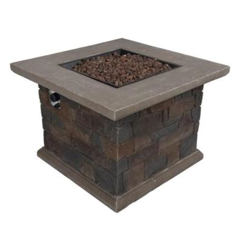 Home Depot Firepits Bond Manufacturing Corinthian 34 In Square Envirostone Propane Pit 66596 The Home Depot