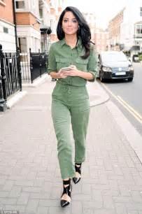 Hq 13857 Denim Jumpsuit green denim jumpsuit fashion ql