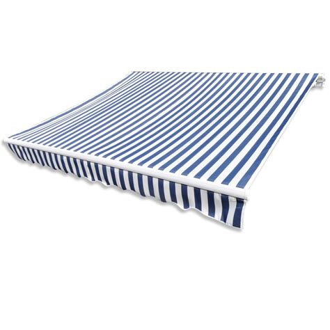 awning frame vidaxl co uk awning top sunshade canvas blue white
