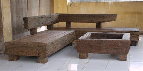 Railway Sleeper Furniture by Mbiyen Outdoor Furniture