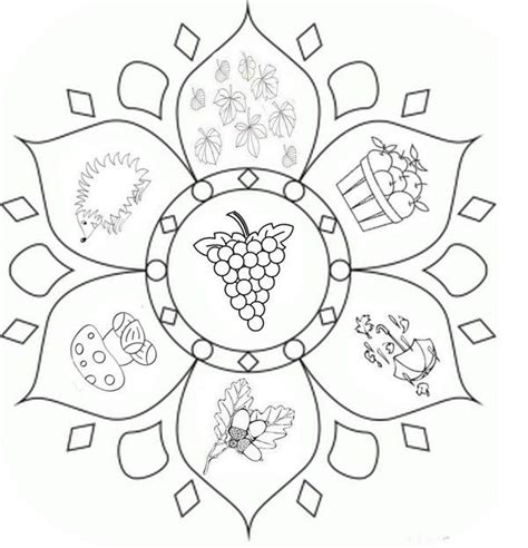 Coloring Page Fall S Mandalas Fall Coloring Pinterest Fall Mandala Coloring Pages