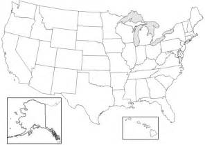 blank map of united states worksheet