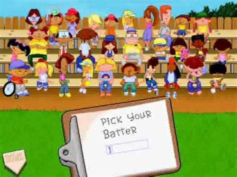 backyard characters backyard baseball menu 2 pick your characters theme youtube