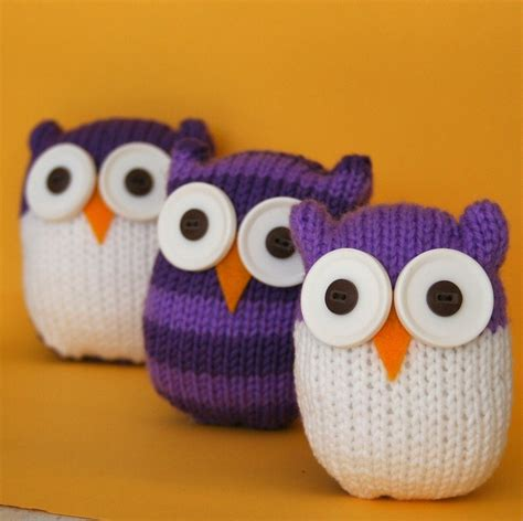 knitted owl pattern and easy owl instant pdf knitting pattern