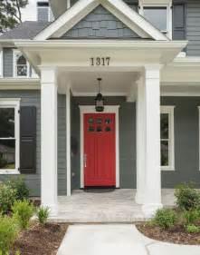 Red craftsman door colonial front doors red front doors red doors