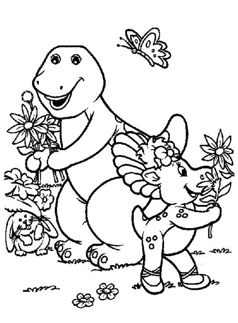Barney Coloring Pages Coloringpages1001 Com Barney Coloring Page