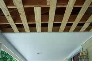Installing A Ceiling Porch Ceilings Installing Vinyl Bead Board Ceiling