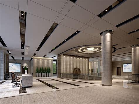 Lobby in office building 3d model cgtrader com