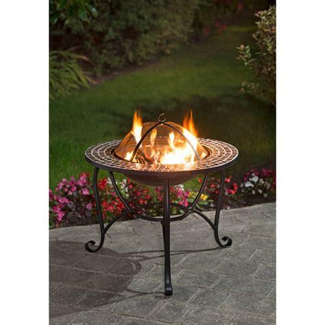 mosaic fire pit garden outdoor heating