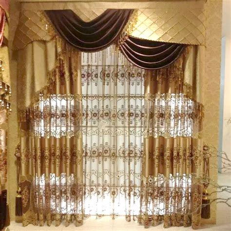 curtain and valance interior living room drape with valance using light brown