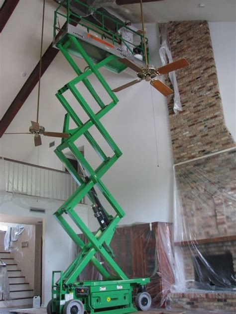 Ladders For High Ceilings by Painting A High Ceiling Can Involve Working In Difficult Heights Using Large Ladders And Even