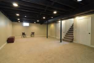 black basement ceiling for the home