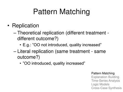 pattern matching case study ppt analyzing case study evidence powerpoint