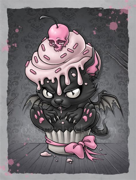 pastel goth tattoos cupcake by aleksandracupcake on deviantart