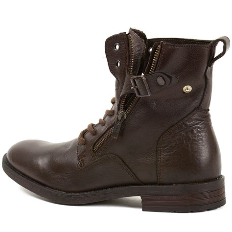 mens high boots leather gbx mens trust leather boots combat style lace up