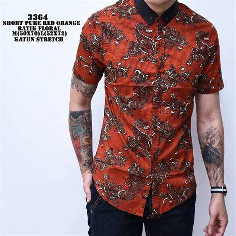 Kemeja Batik Excellent Katun Biru jual batik floral kemeja batik slimfit modern pria