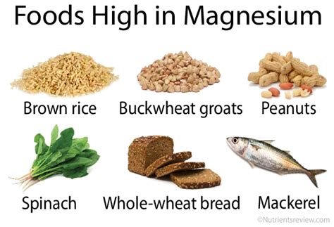 whole grains high in magnesium magnesium foods and supplements chart benefits side effects