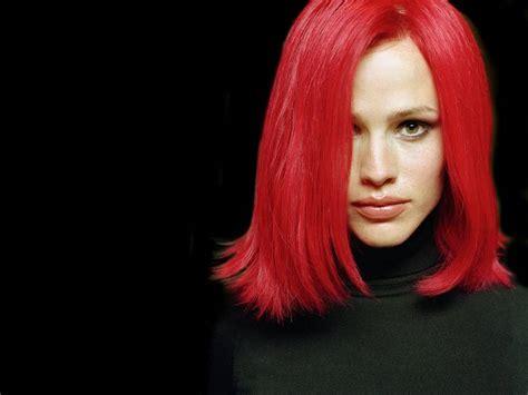 actress with bright red hair jennifer garner with bright red hair celebrities female