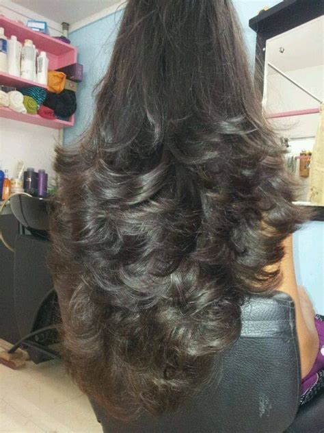step cutting hair indian layer cut for long hair www imgkid com the