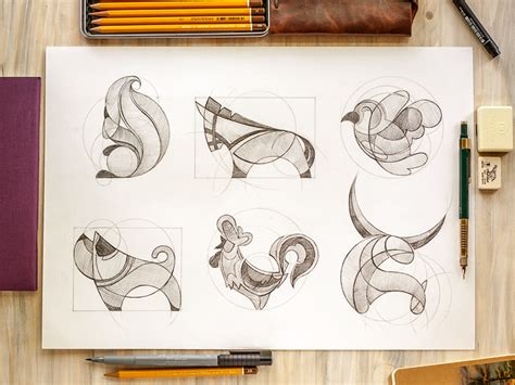 logo development sketches animal logo sketches by inkration dribbble