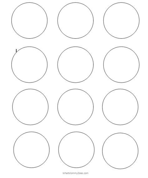 printable circles sizes circle cut