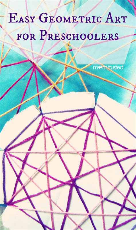 Geometry String Project - easy geometric string for preschoolerspreschool